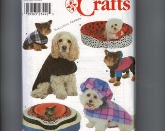 Craft Sewing Pattern Simplicity 8928 Pet Accessories Cat Dog Bed Cover Coat UNCUT  99