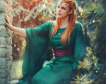 Medieval Dress Ceres, Fantasy dress, roman dress, medieval wedding dress, Game of thrones Deanerys, Handfasting dress, pagan wedding dress