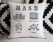 MASH Game Pillow // Mansion Apartment Shack House // 80s // 90s // Nostalgia // School  // Teen // Tween // Retro // Housewarming //