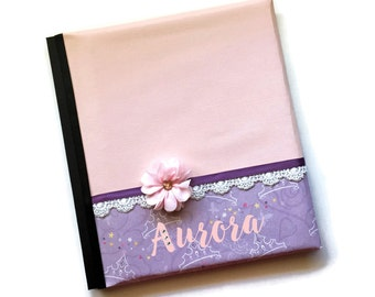 Pink and Purple Princess Baby Memory Book