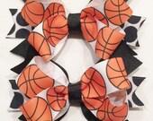 Basketball Hair Bows Orange Hair Bows Orange And Black Bows