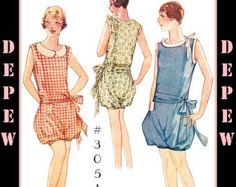 Vintage Sewing Pattern Reproduction Ladies' 1920's Romper #3051 - INSTANT DOWNLOAD