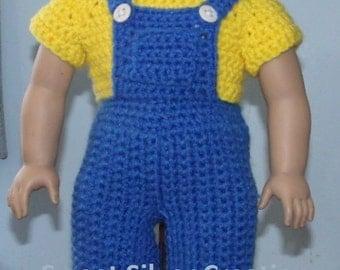 18 inch American Girl Crochet Pattern - Miner
