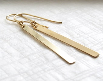 Long Bar Earrings • Modern • Simple • Graphic Drop Earrings • Vertical Bar Earrings • Stick Dangle Earrings