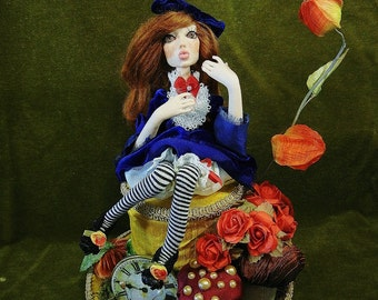 ooak art doll Alice in wonderland Autumn by moninesfaeries