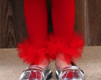 Red Ruffle Tutu Tights, Girls ruffle tutu Tights - Perfect for Photo Prop, Birthday, Wedding, Girls tutu, Pagents, fits girls size 2-14