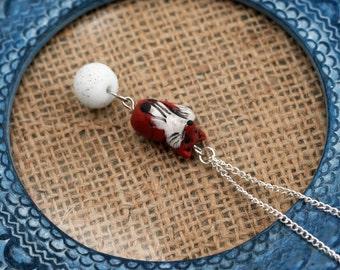 Red Fox Necklace, Woodland Jewelry, Wood Jewelry, Winter Fox, Fox Pendant