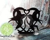 Bird Sparrow Cake Topper, Wedding, Anniversary, Tattoo Bird Couple, Martin, Sparrow *Original Design*