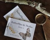 Series 2 ~ Buterflies and Moths Mini Book ~ Printable PDF Zine, Montessori, Educational, Natural History