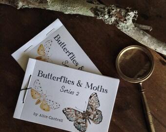 Series 2 ~ Buterflies and Moths Mini Book ~ Printable PDF Zine