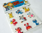 Pack of Googly Eye Stickers - Vintage Kitsch Puffy Stickers from 1970s of Crazy Animals