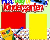 1st Day of Kindergarten 2-Page Scrapbook Page Kit or Premade Layout
