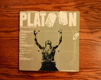 PLATOON recycled album cover coasters with vinyl wacky bowl