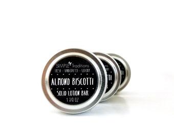 Almond Biscotti Lotion Bar Solid Moisturizer Salve