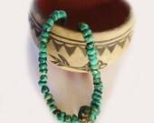 VINTAGE KINGMAN TURQUOISE Necklace bluegreen nuggets large