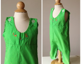 """1960s """"1,2,3"""" Overalls~Size 6 Months"""