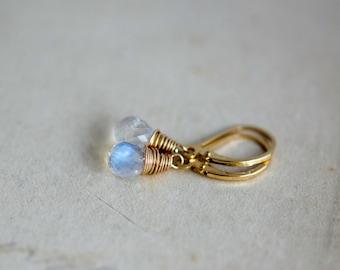 Moonstone Earrings, Gemstone Earrings, Drop Earrings, Gold Earrings, Moonstone Jewelry, Gemstone Jewelry, Dangle Earrings, Rainbow Moonstone