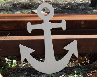 Wooden Boat Anchor,  Unfinished