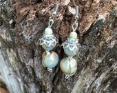Aqua Terra African Opal Earrings