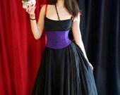 Deep Purple Silk Corset Belt Waist Cincher Raw Silk Any Size B