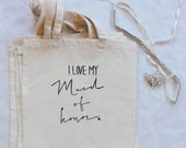 Maid of Honor Bridal Party Wedding Favor Gift Bag Bridal Party Gift