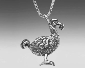 Dodo Bird Necklace Silver Dodo Bird Jewelry - Alice in Wonderland Jewelry - Bird Necklace Bird Jewelry - Exotic Birds - Extinct Animals