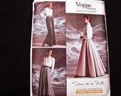 Vogue Oscar de la Renta Evening Length Skirt Pattern Misses size 12 14 16 UnCut 1980s Vintage Vogue Sewing Pattern