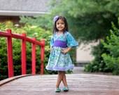 Little Girls Dress - Girls Dress - Toddler Dress - Blue Dress - Flower Girl Dress - Girls Birthday Dress -Photo Prop - Sizes 2T to 7 years