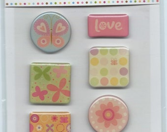 Provo Craft Rob and Bob Studio Craft Candy Foam Backed Epoxy Stickers - Butterfly Surprise #SC039