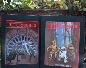 Pair of 1983 Star Wars Return of the Jedi Folders