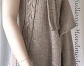 PDF,  Knitting Pattern, Casual Vest, Drape Front Vest Pattern, Womans Vest Pattern, Instant Download, Year round Vest Pattern,