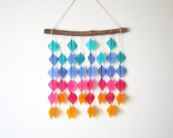 Four Colour Drops, wall hanging, hanging mobile, wall decor, housewarming gift
