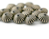 Acrylic Beads Black Gold Fluted Bicone Saucer Beads 15mm (16)