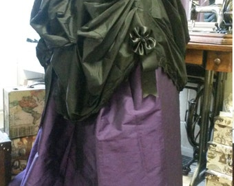READY to SHIP Steampunk Parlour Bustle Overskirt UK12-14, 72-78cm