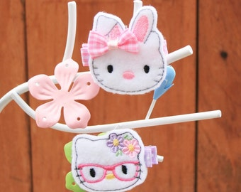 Spring Kitty Clippie, Your Choice Hello Kitty Inspried Hair Clip