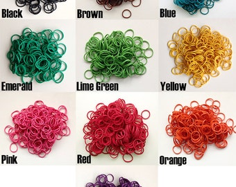 Rubber Hair Bands for Dread Extension and Braid Installation Small Various Colours and Quantities