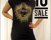 10 DOLLAR SALE----Sacred Heart Black Tshirt Dress