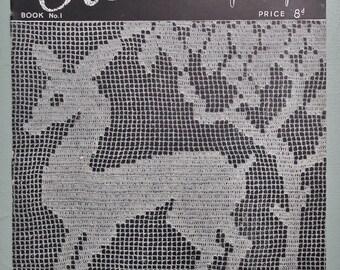 Modern Crochet Vintage 1940s Crochet Patterns by Penelope retro UK book booklet 40s original patterns - crochet necklace bow tie doilies etc