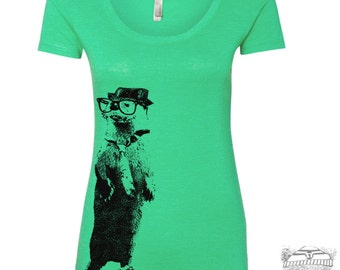 Womens OTTER Scoop Neck Tee - T Shirt S M L XL XXL (+ Colors)