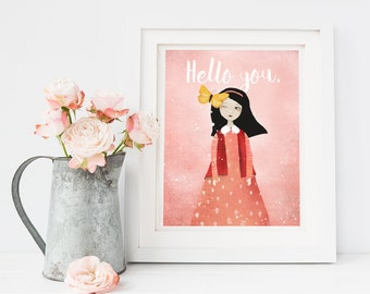 Print Sale 20% - Hello you. - Deluxe Edition Print