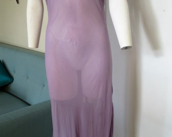 Lavender Bias Cut Gown - Large - 40 in. bust