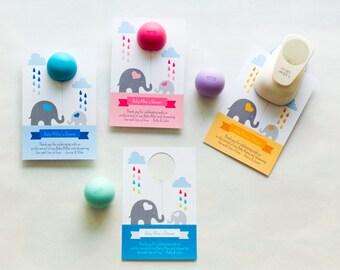 lip balm holder for baby shower favors elephant baby shower lip balm