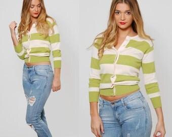 Vintage 90s Striped CASHMERE Sweater STRIPED Cardigan Preppy Boyfriend Sweater HIPSTER Sweater Cashmere Jumper