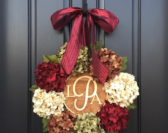 CHRISTMAS WREATH, Holiday Wreath, THANKSGIVING Wreaths, Christmas Wreaths, Holiday Decor, Front Door Wreaths, Holidays, Monogram Wreaths