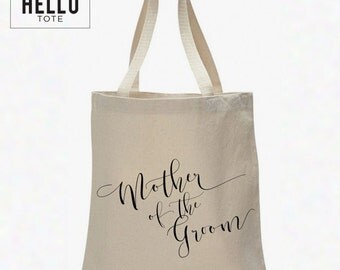 Mother of the Groom Tote Bag | Order 1 or More for Gift, Welcome Bag, Wedding Favor