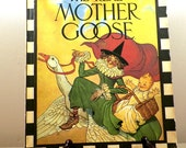 The Real Mother Goose - Blanche Fisher Wright Illustrator, Great Color Graphics 1993 Edition, Nursery Rhymes Bedtime Story Home School
