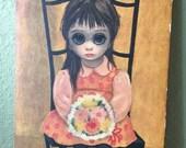 1962 Vintage Big Eyes Margaret Keane Waiting for Grandma Print