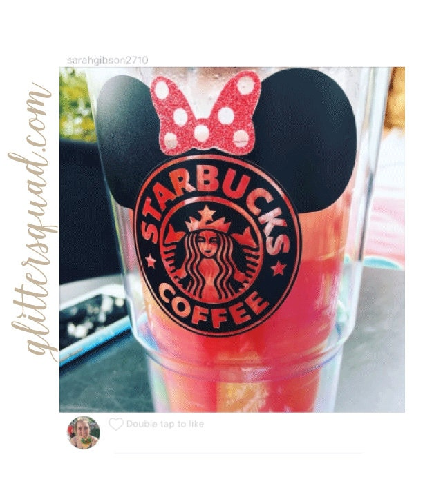 Black Amp Red Starbucks Minnie Mouse Latte Or Coffee 24 Oz