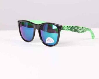 vintage 1990s sunglasses neon + black frames surfer style 1980s new/old stock unisex