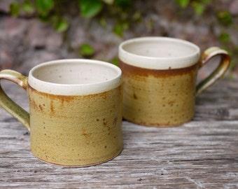 2 x Hand-thrown Stoneware Mug